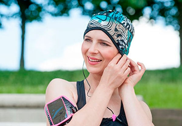 turbantes oncológicos para hacer deporte